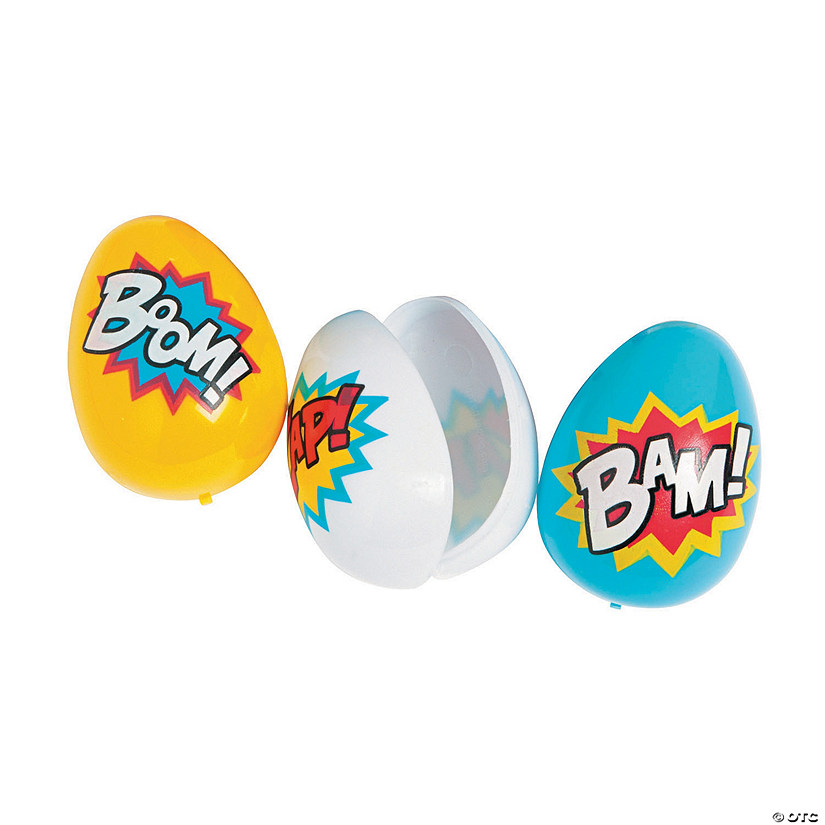 Superhero Plastic Easter Eggs - 12 Pc.