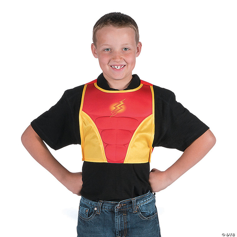 Superhero Red & Yellow Chest Plate Costume