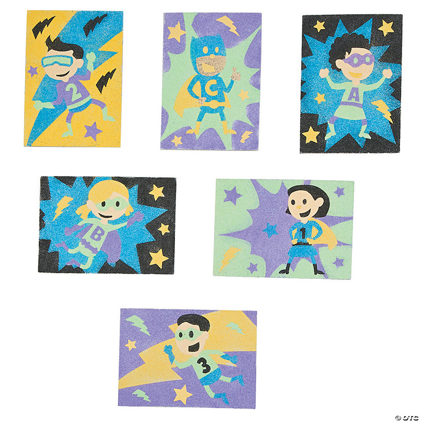 Superhero Sand Art Sets