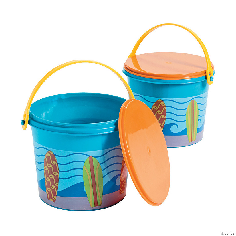 Surf's Up Pails with Lid