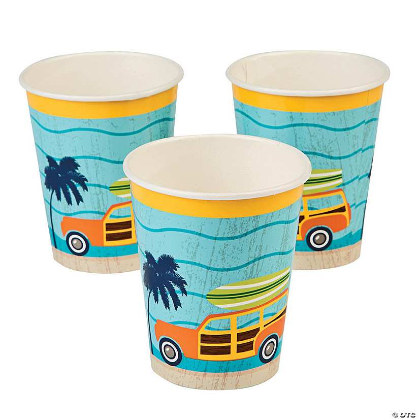Surf's Up Paper Cups