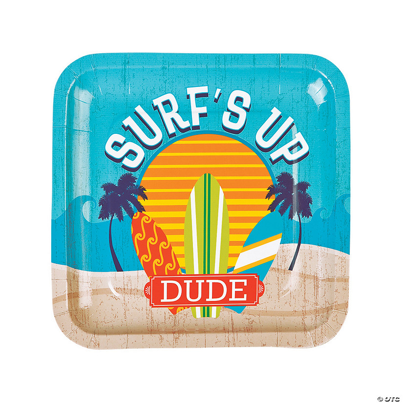 Surf's Up Paper Dinner Plates