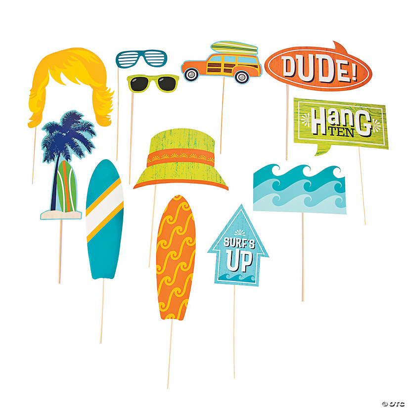 Surf's Up Photo Stick Props