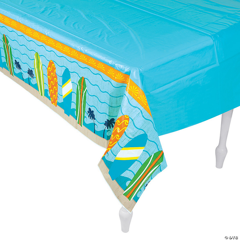 Surf's Up Plastic Tablecloth