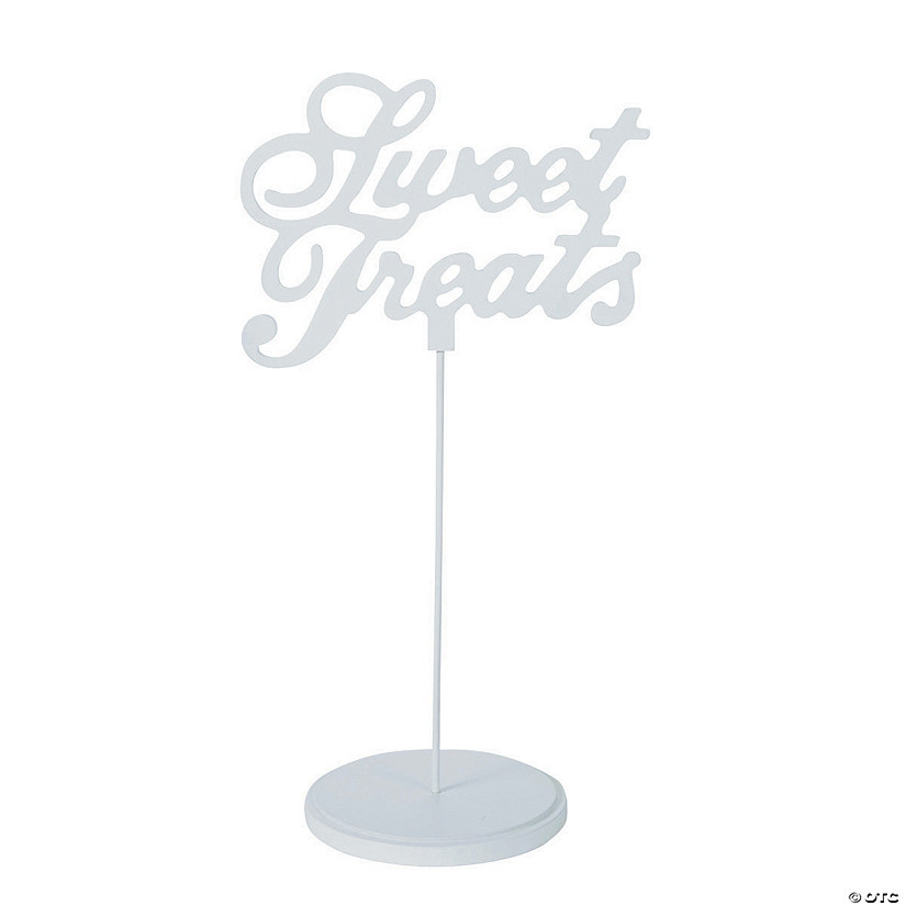 Sweet Treats White Calligraphy Sign