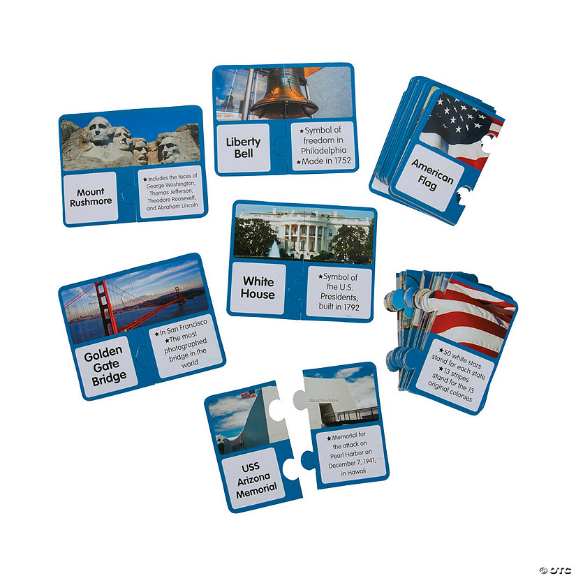 Symbols of America Matching Puzzles