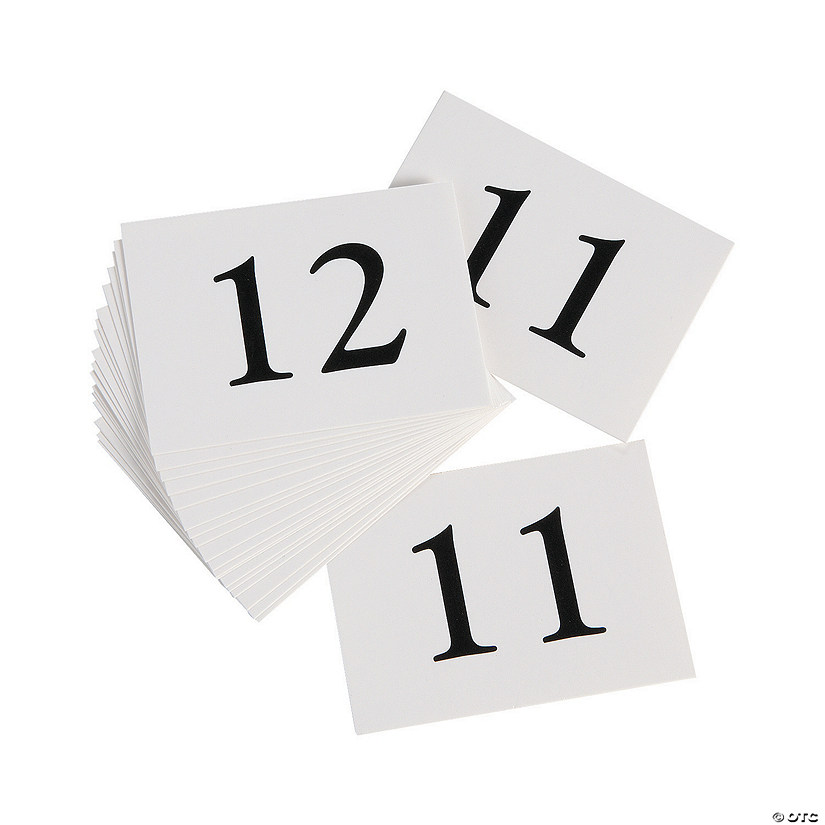 Table Number Inserts 11-20
