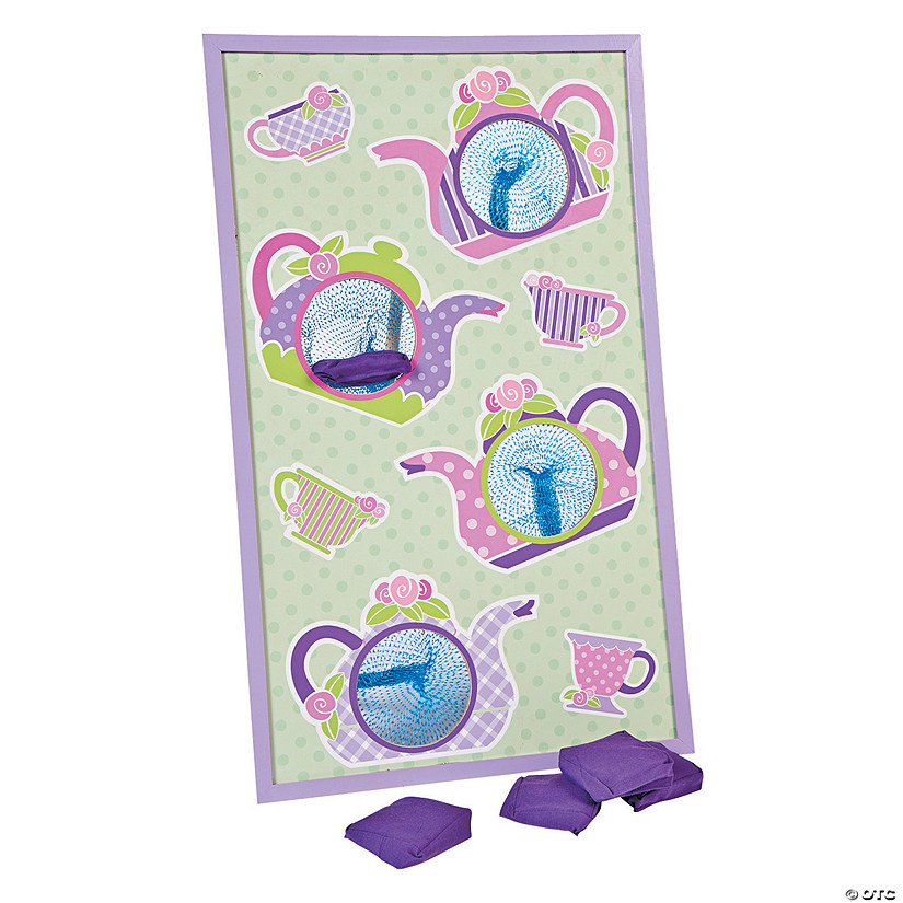 Tea Party Bean Bag Toss Game