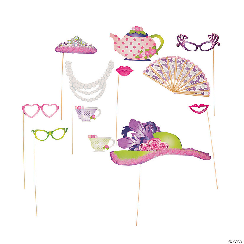 Tea Party Photo Stick Props