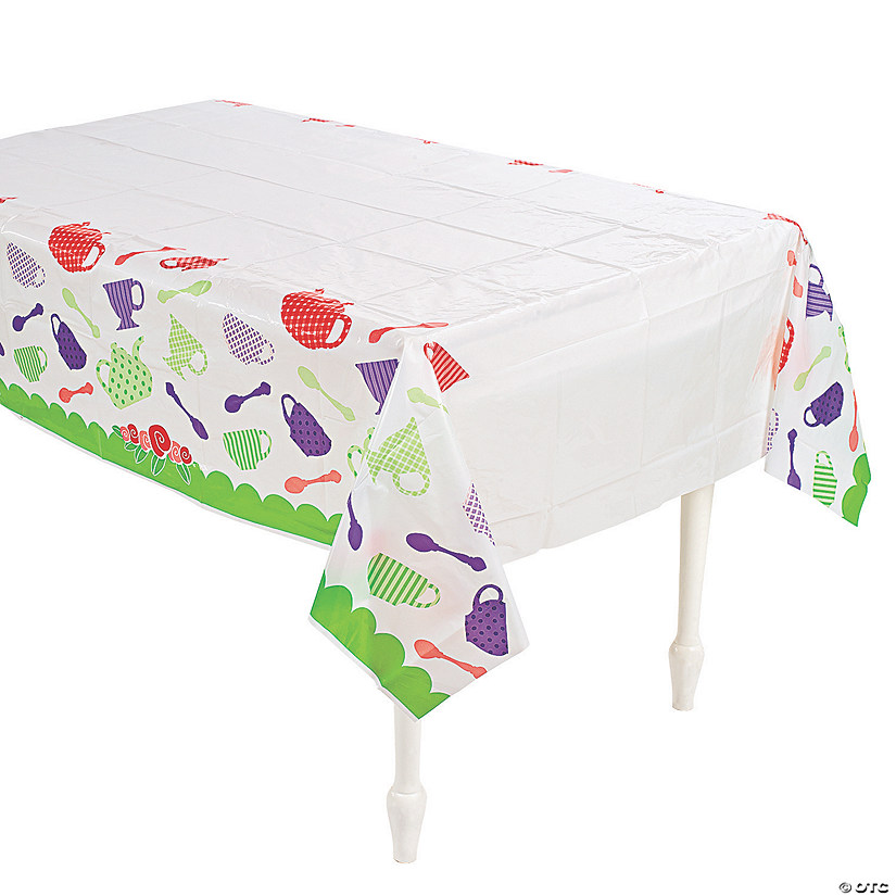 Tea Party Plastic Tablecloth
