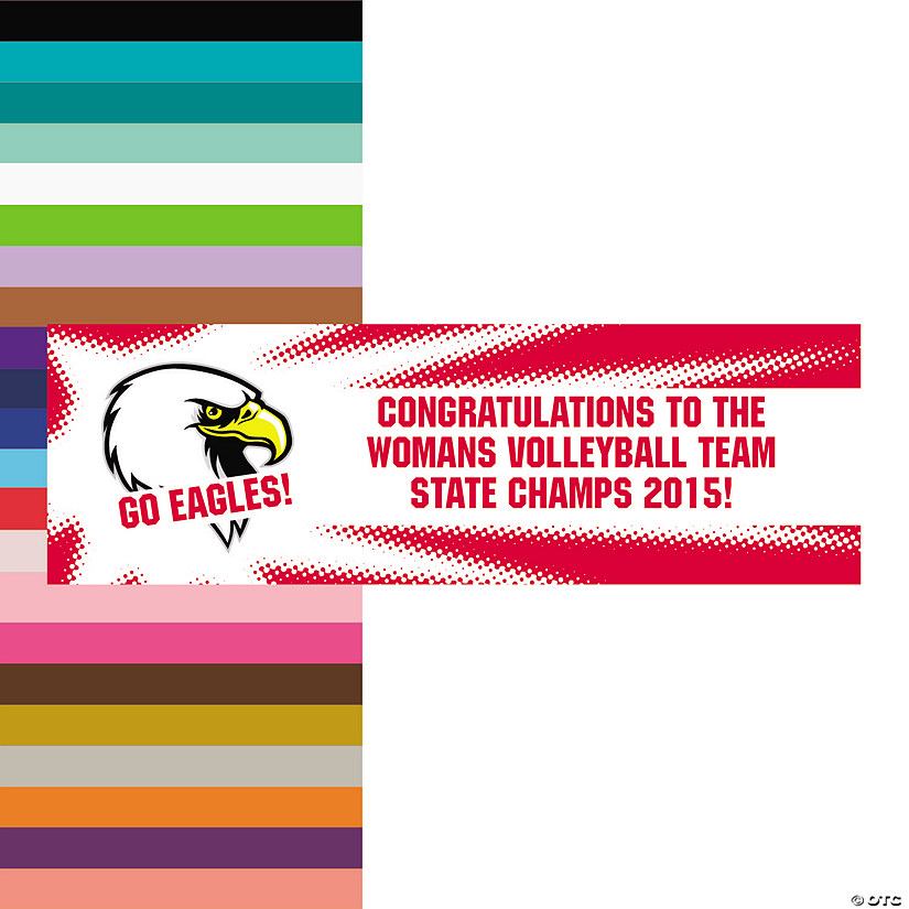 Team Spirit Custom Photo Banner - Burst