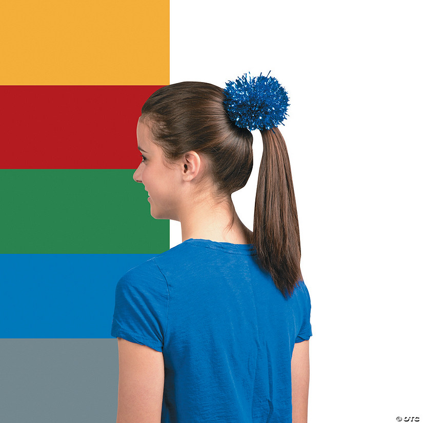 Team Spirit Metallic Hair Pom-Pom