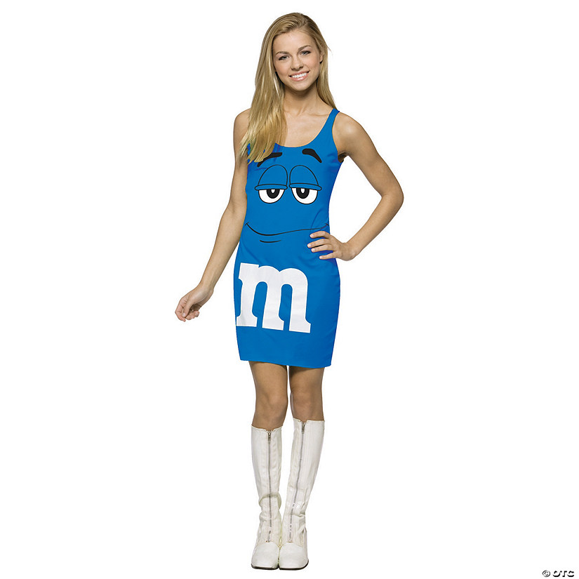Teen Girl's Blue M&M's® Tank Dress Costume