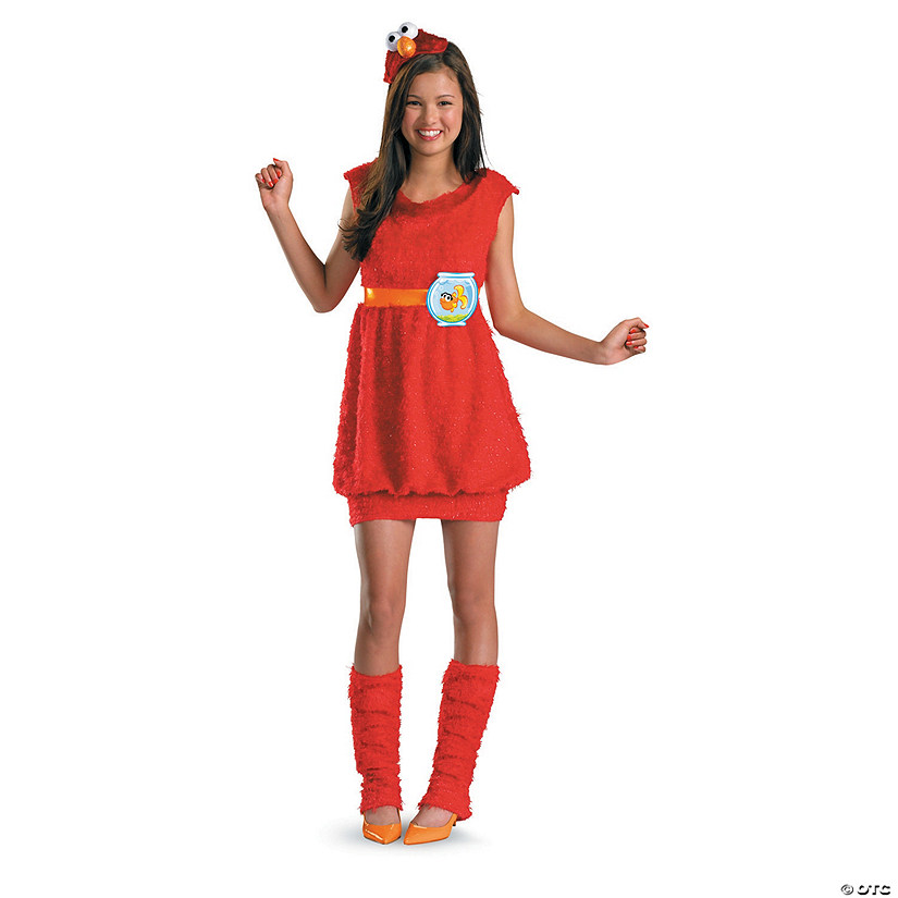Teen Girl's Elmo Costume