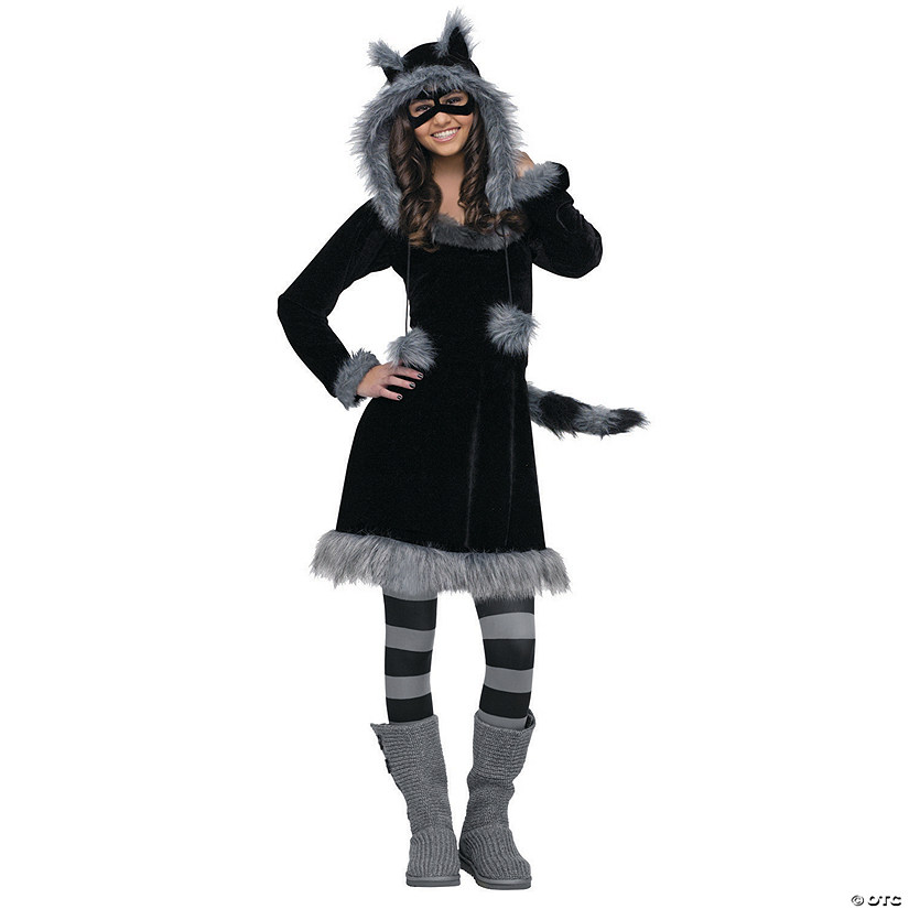 Teen Girl's Sweet Raccoon Costume