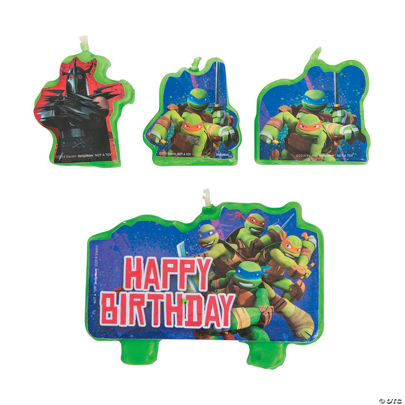 Teenage Mutant Ninja Turtles Birthday Candles