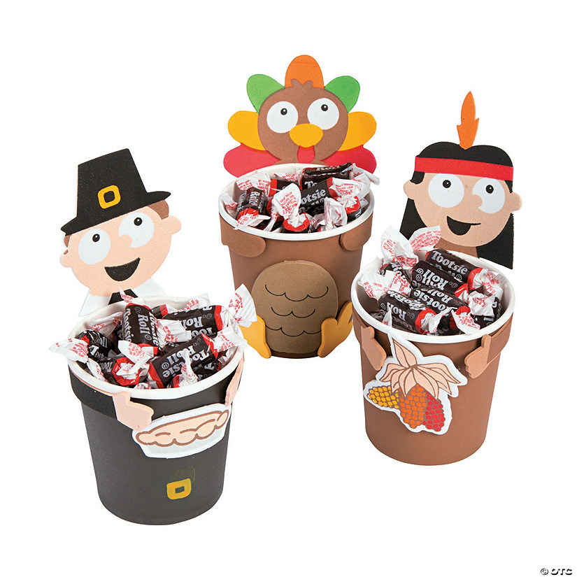 Thanksgiving Treat Cup Hugger Craft Kit
