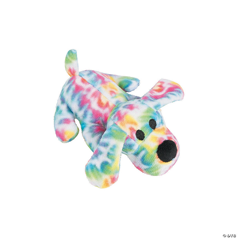 Tie-Dyed Stuffed Dogs