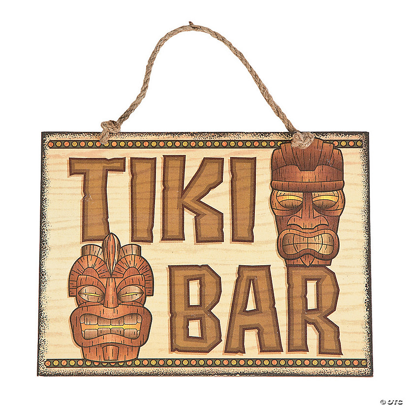 Tiki Bar Sign Wall Decoration