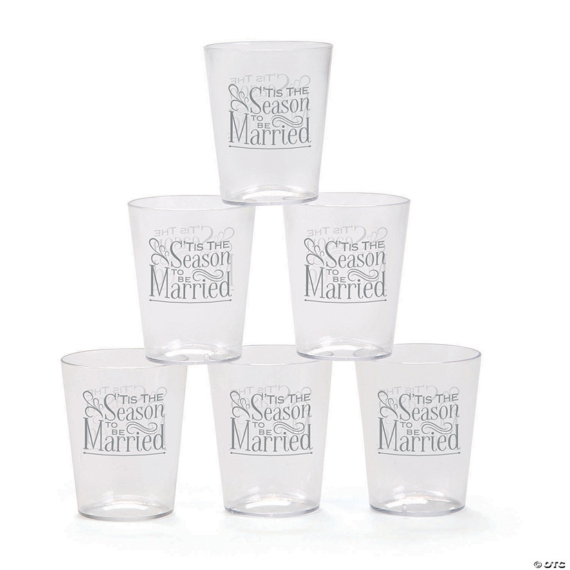 'Tis the Season Plastic Shot Glasses