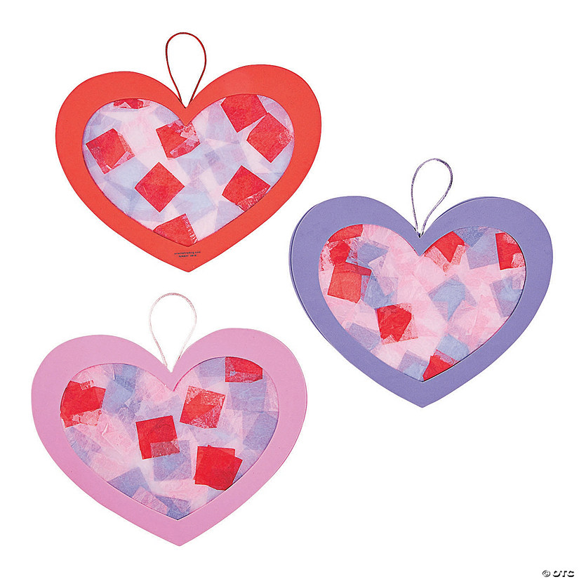 Tissue Paper Heart Craft Kit