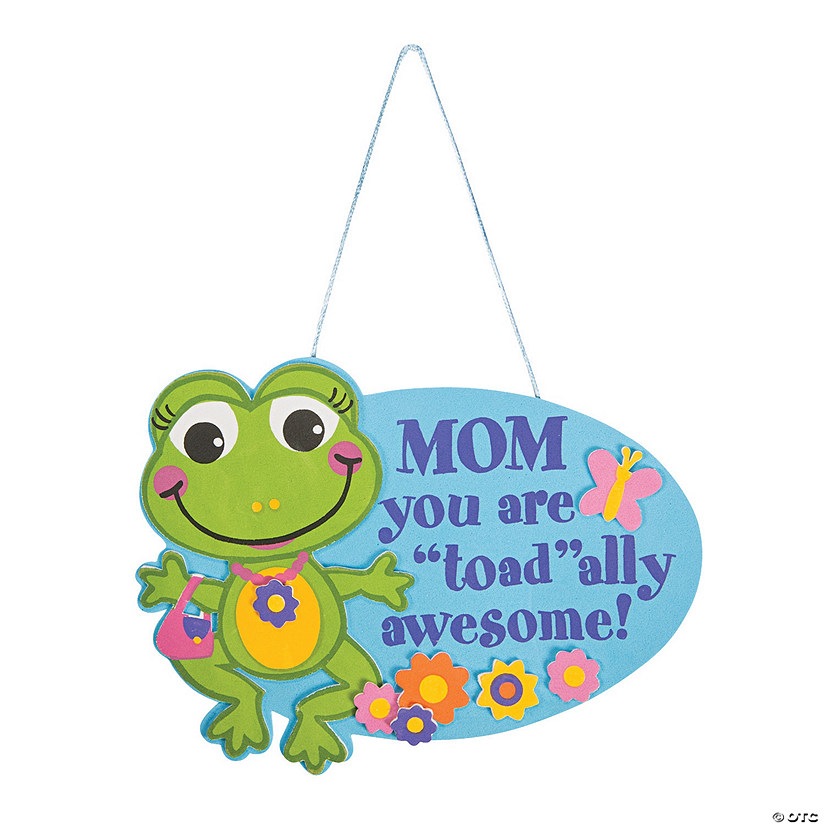 Toadally Awesome Mom Sign Craft Kit