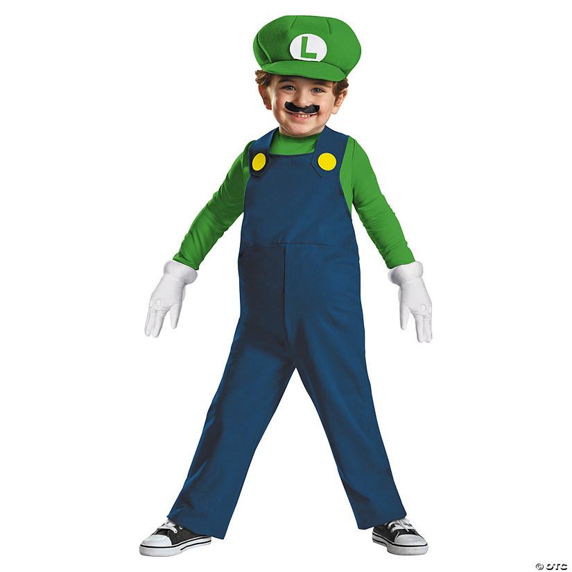 sc 1 st  Oriental Trading & Toddler Boyu0027s Super Mario Bros.™ Luigi Costume - 3T-4T