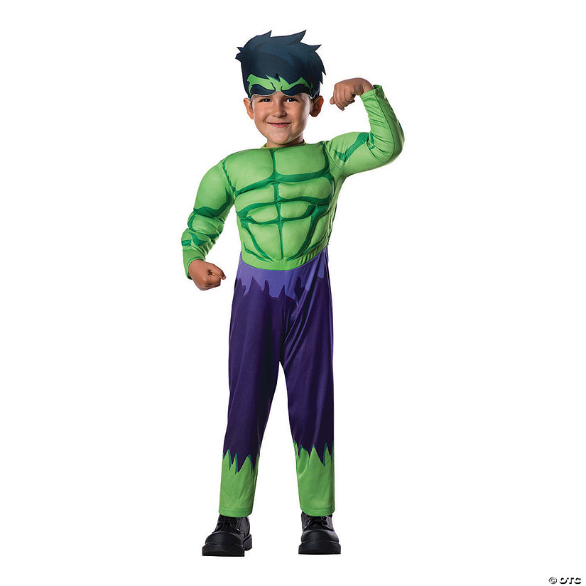 Toddler Boy's Deluxe Muscle Chest Hulk Costume