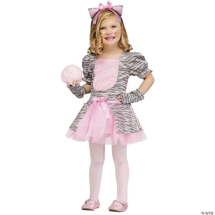 Toddler Girl's Grey Kitten Costume - 3T-4T