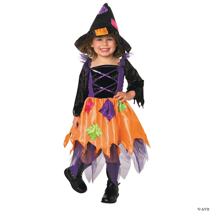 Toddler Girl's Patchwork Witch Costume