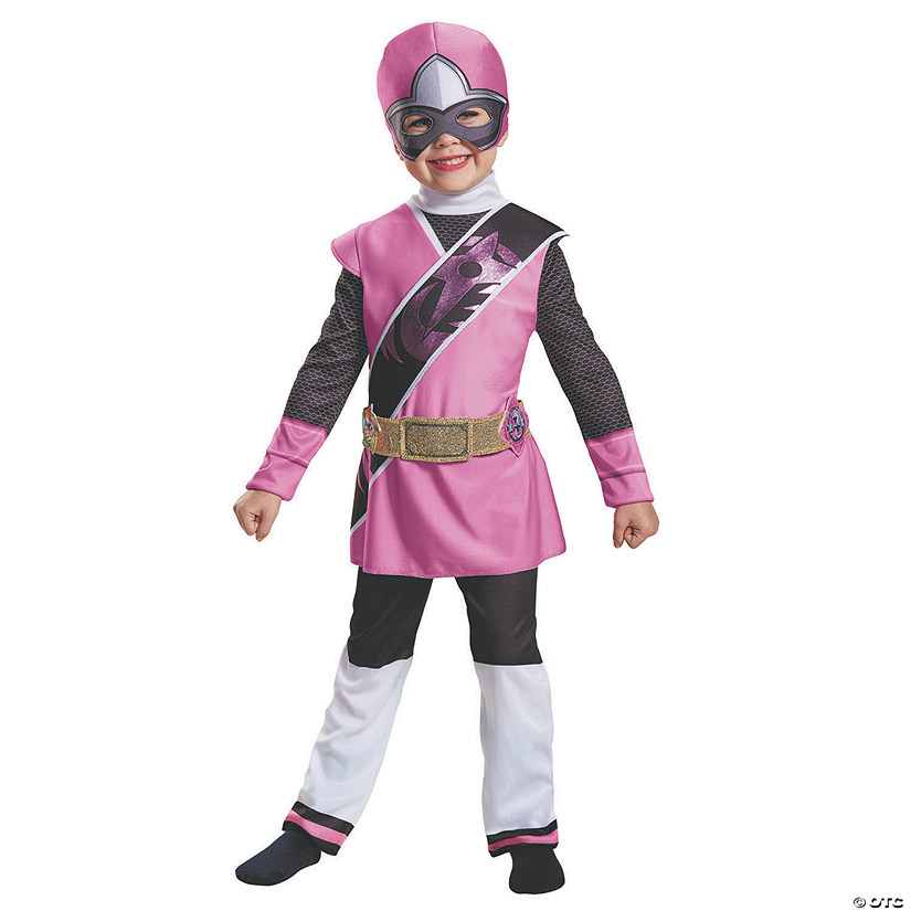 Toddler Girl's Ninja Steel Pink Ranger Costume - 3T-4T