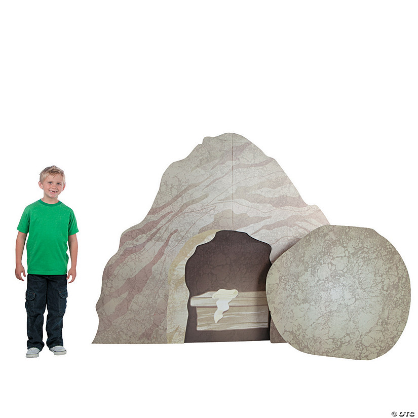 Tomb And Rock Roll Away Cardboard Stand-Up