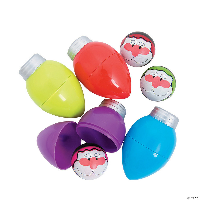 Toy-Filled Christmas Light Bulbs