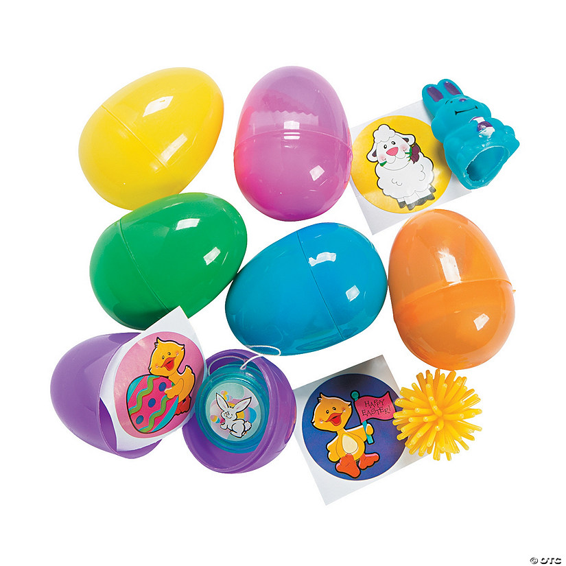 Toy-Filled Plastic Easter Eggs - 24 Pc.