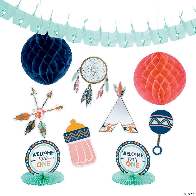 Tribal Baby Shower Decorating Kit