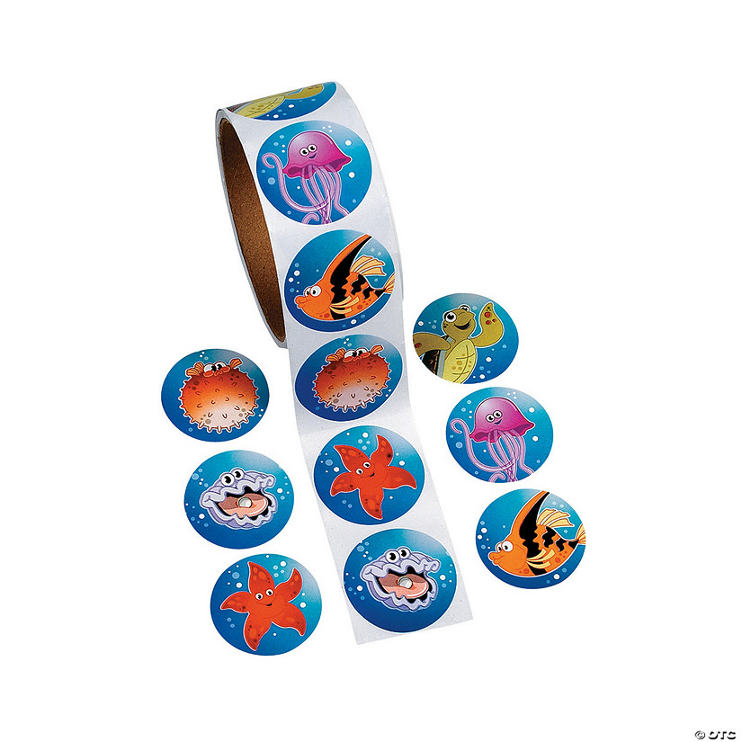 Tropical Sea Life Sticker Rolls