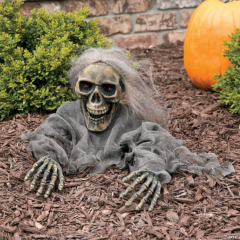 Try Me Skeleton Grave Breaker Halloween Décor