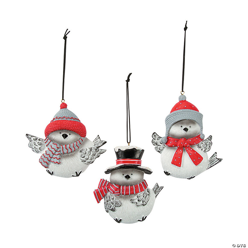 Tumbling Chickadee Ornaments