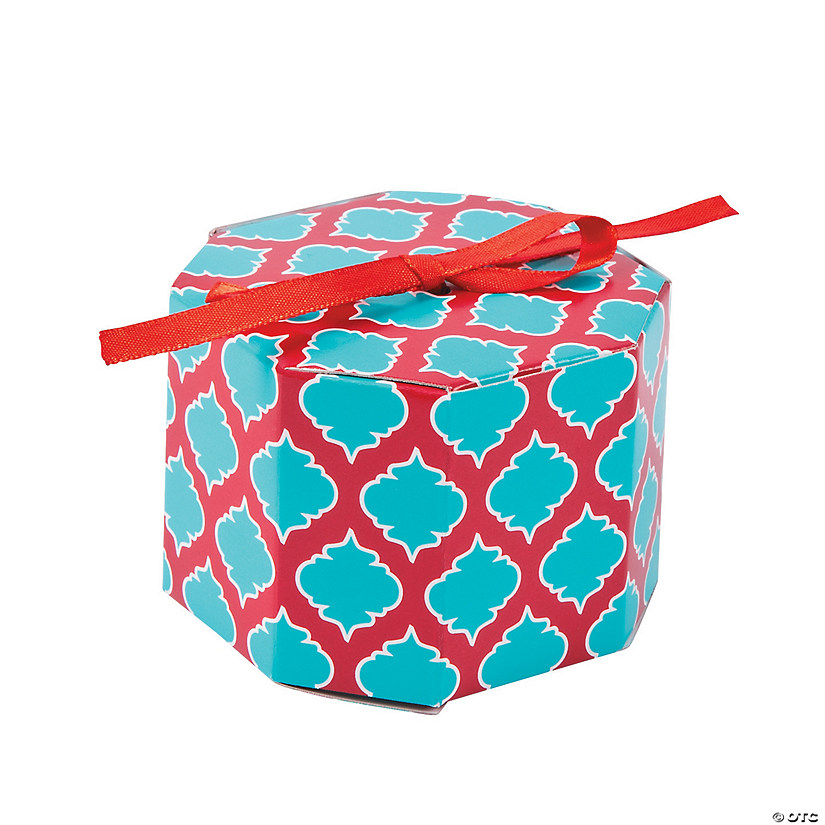Turquoise Moroccan Favor Boxes