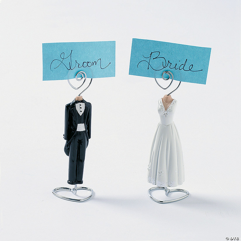 Tux & Gown Place Card Holders - Discontinued