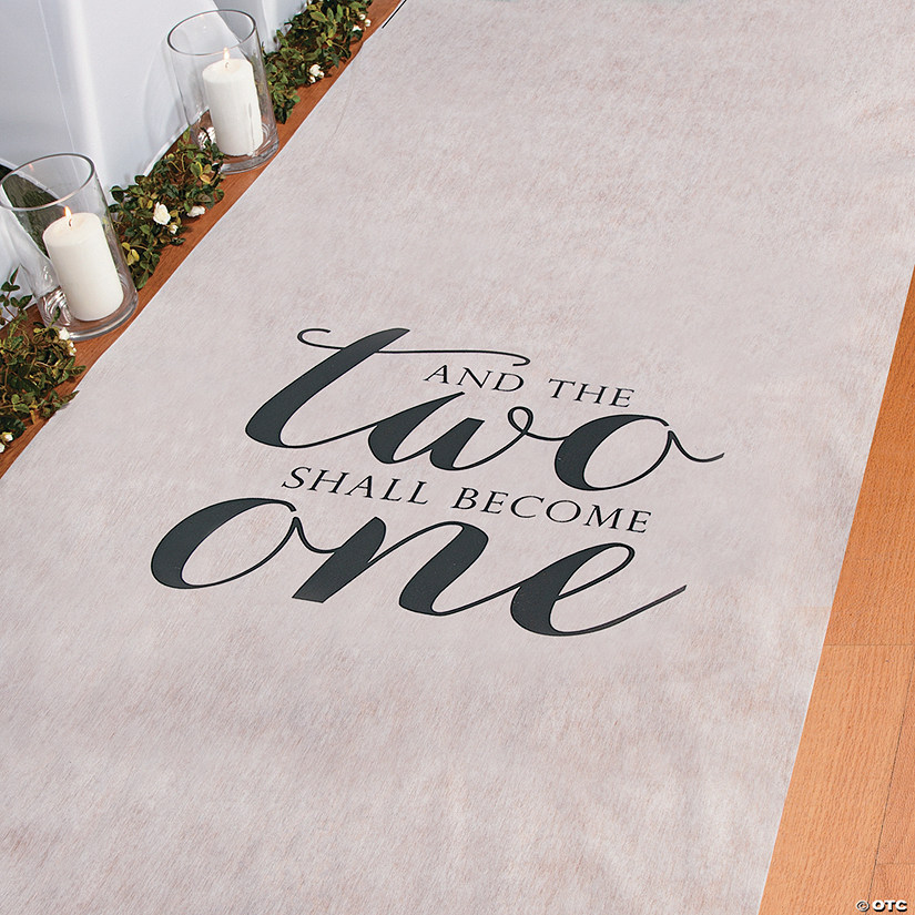 Two Become One Wedding Aisle Runner