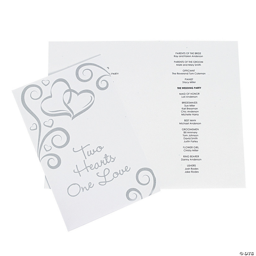 Two Hearts Wedding Programs