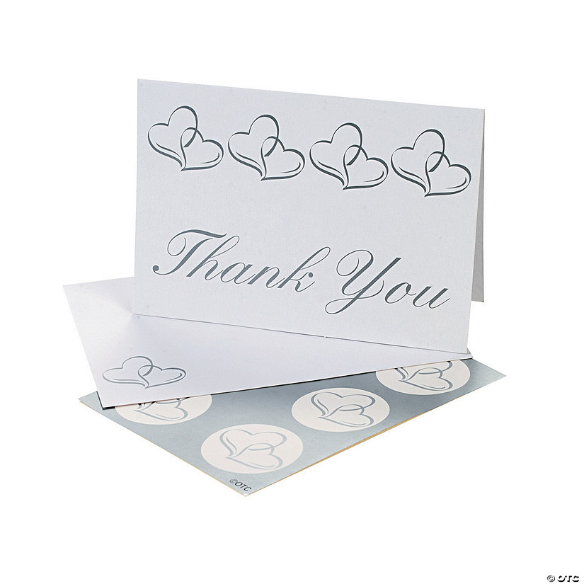 Two Hearts Wedding Thank You Cards