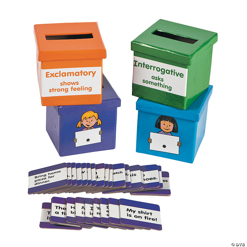 Type of Sentence Sorting Boxes