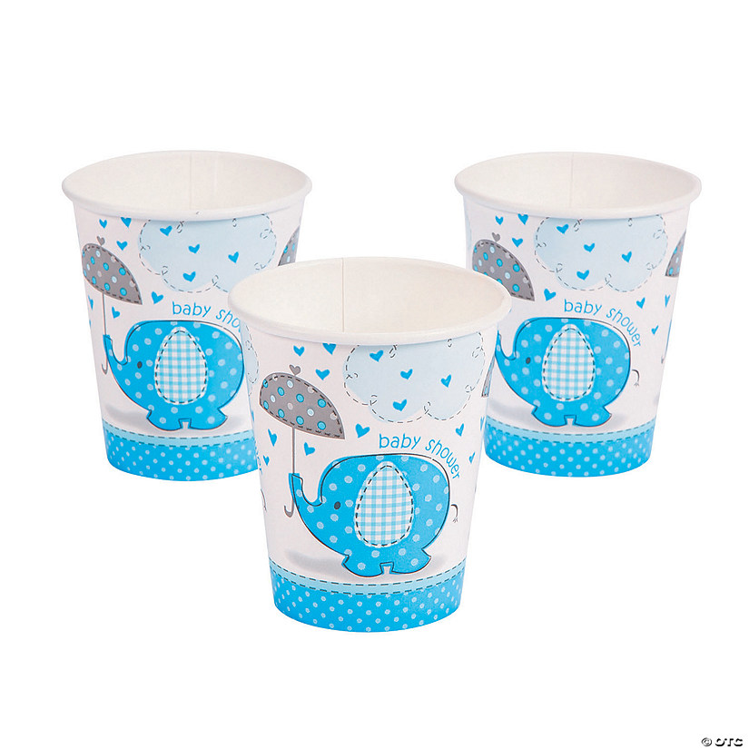 Umbrellaphants Blue Paper Cups