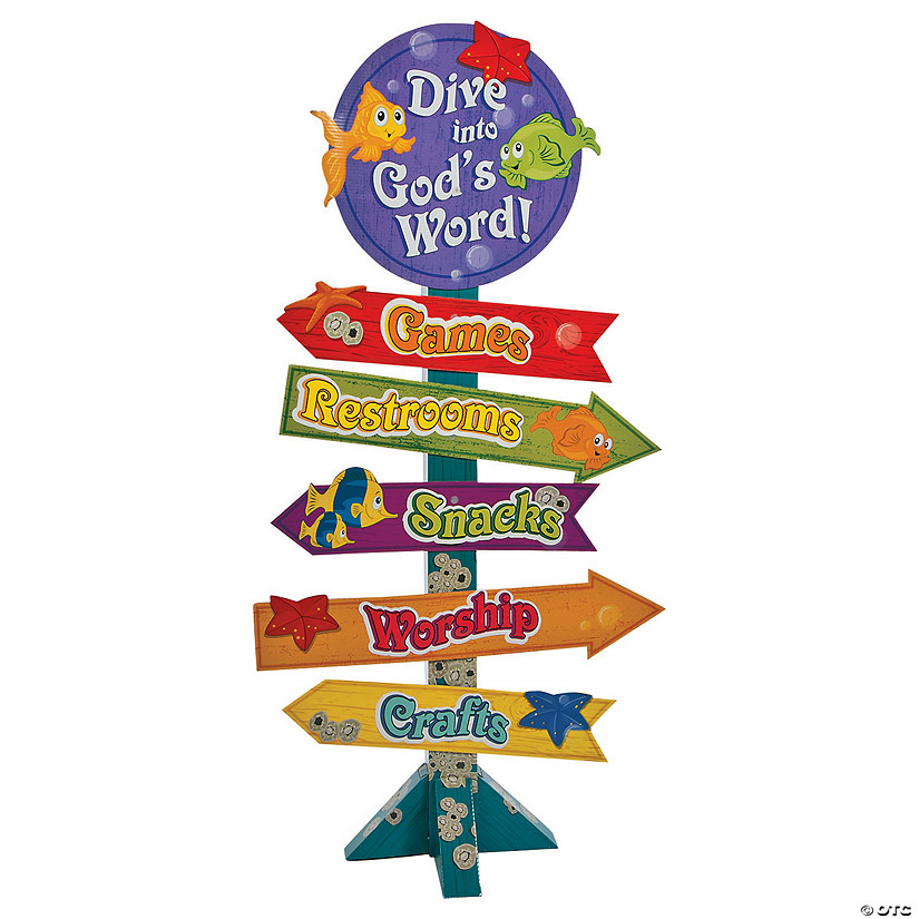 Under the Sea Directional Sign Cardboard Stand-Up