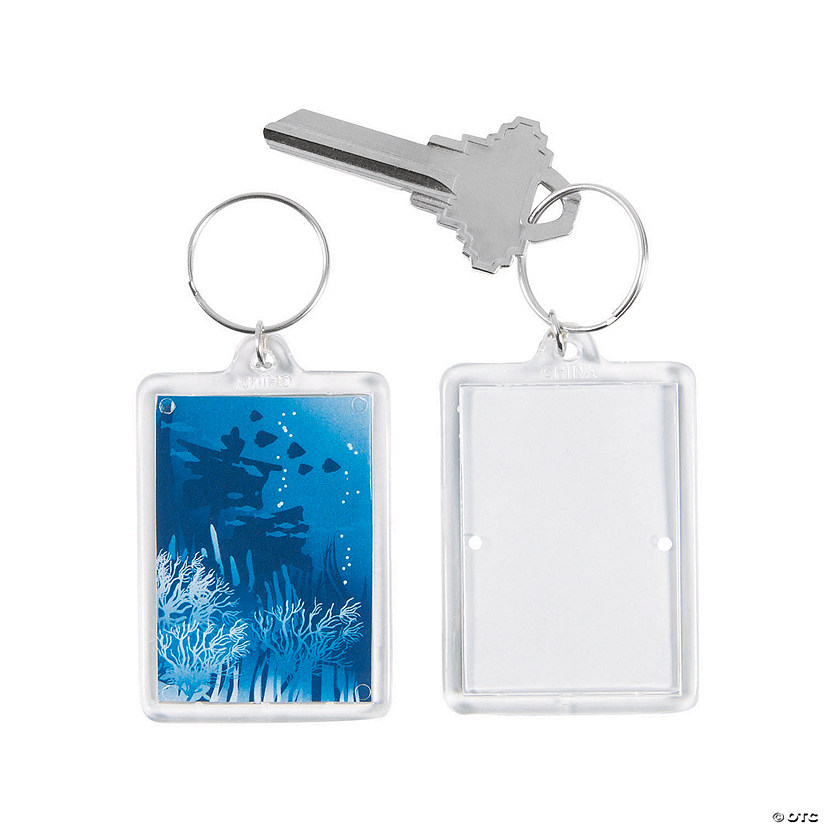 Under the Sea Theme Picture Frame Keychains