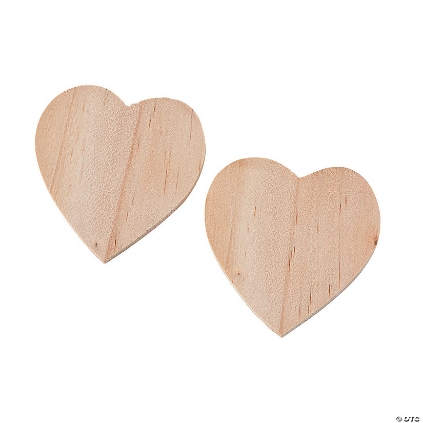 Unfinished Wood Mini Hearts