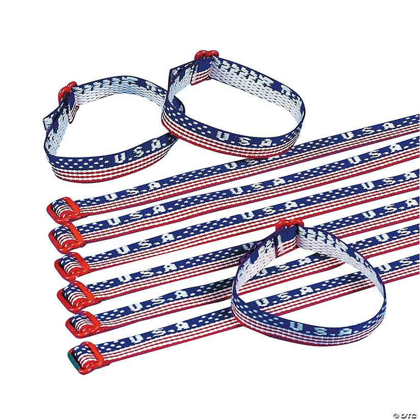 """USA"" Woven Friendship Bracelets"