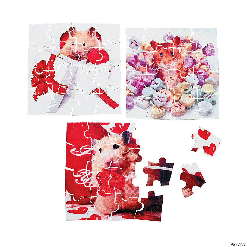Valentine Animal Mini Puzzles